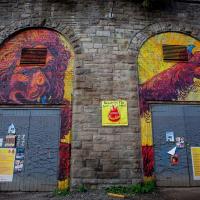 Lion Rampant in the arches in Edinburgh.