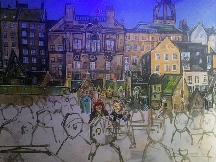 Scottish stars in west end edinburgh mural chris rutterford for Edinburgh wall mural