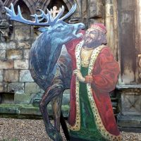 King David and the Stag in the grounds of Holyrood Palace in Edinburgh.