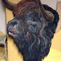 Bull cut out.
