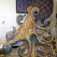 Joctopus cut-out, commissioned for Glasgow's East End Diner.