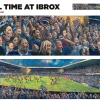 Goal Time at Ibrox - A1 poster