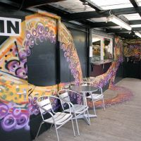 """Wraparound """"Joctopus"""" spray work at the East End Diner in Glasgow, 2016."""