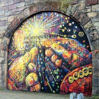 Fireworks spray work in the Market Street arches in Edinburgh, 2014. Image courtesy @Dymagate on Instagram.