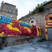Freestival Lion Rampant signage, Edinburgh, 2015.