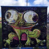 Frog spray work at Meadowbank Velodrome, Edinburgh, 2016.