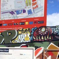 "Market Street ""topper"" spray work, Edinburgh, 2016."