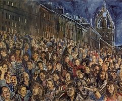 The middle section of the Hogmanay mural.
