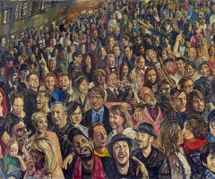 The far right section of the Hogmanay mural.
