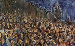 The Hogmanay mural in its entirety.