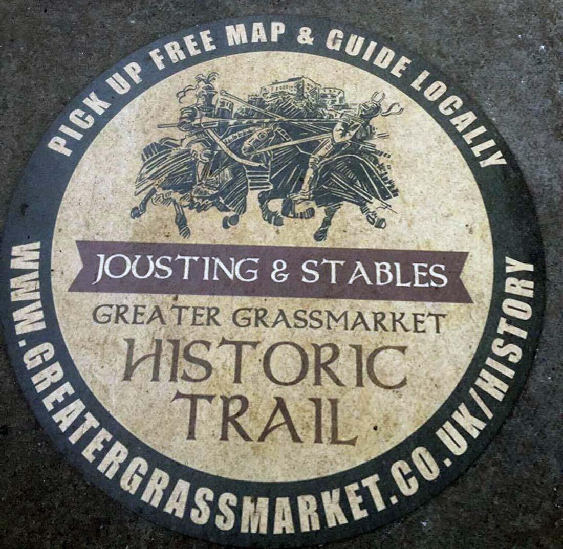 Floor vinyl for the Greater Grassmarket Historic Trail (2015).