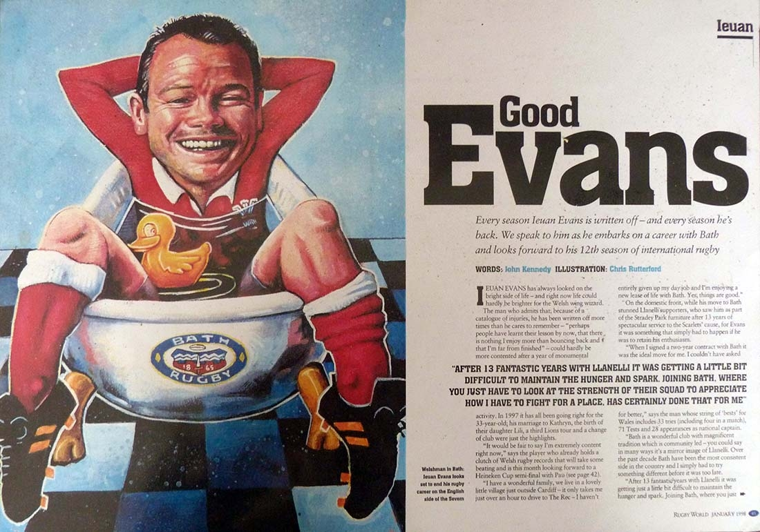 Rugby World magazine: Ieuan Evans