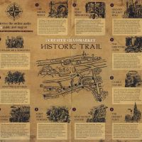 Interior of the Greater Grassmarket Historic Trail leaflet (2015).
