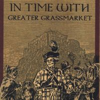 Cover of Edinburgh's Greater Grassmarket Historic Trail leaflet (2015).