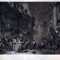 An engraving after The Porteous Mob, painted in 1855 by James Drummond, RSA (1816-1877).