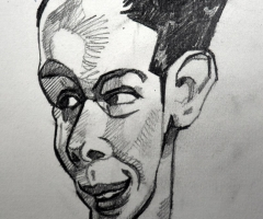 Early pencil portrait.