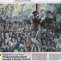 03/10/2016 The Scotsman newspaper's coverage of the Galashiels Gateway mural.