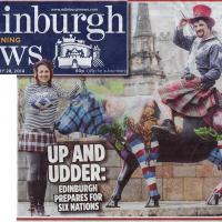 28/01/2014 Edinburgh Evening News front cover