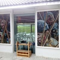 The mural installed at The Battle of Bannockburn Visitor Centre