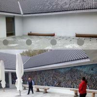 A before and after montage of the Bannockburn Centre.