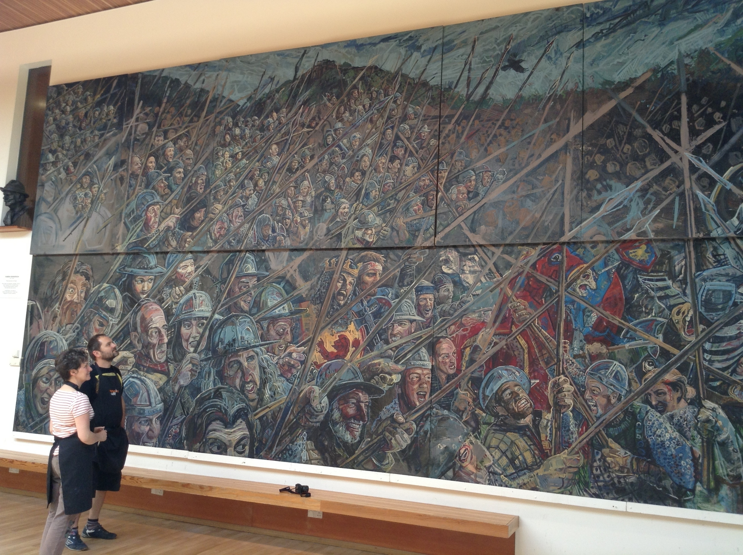 Audience with bannockburn chris rutterford for Audience wall mural