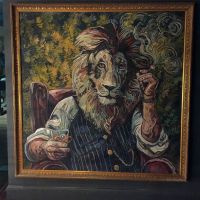 A lion portrait custom made for Brewhemia.