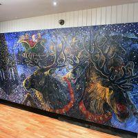 Seasonal murals rented by Brewhemia during Christmas 2017.
