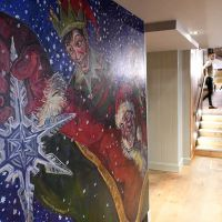 Seasonal murals rented by Brewhemia during Christmas 2017.