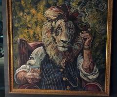 A lion portrait custom made for Brewhemia.