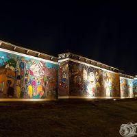 Mayfield and Easthouses – Big Wall project, 2014. Photo courtesy Joe Gilhooley