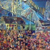 Echline Primary School, Queensferry Crossing, Forth Road/Rail Bridges, 2017.