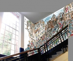 The proposed Jacobites design in the stairwell.