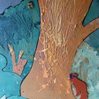 Tree texture detail.