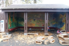 The Hut after installation.