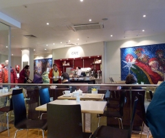 Interior of the John Lewis cafe.