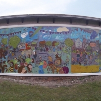 The finished mural after installation.