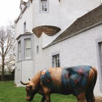 Och Aye the Noo cow in its final resting place at Castle Gogar, near Edinburgh