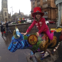 Esme with the Six Nations Cow