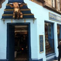 Exterior of Shipwrecked shopfront in Edinburgh.