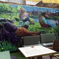 Interior mural at Badger & Co. in Edinburgh.
