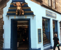 Exterior of Shipwrecked shopfront in Edinburgh.