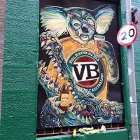 Custom branded signage outside the Oz Bar in Edinburgh.