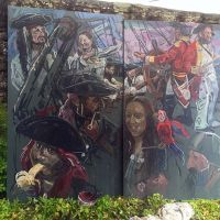 The Culross Pirates mural