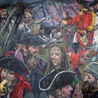 The finished Culross Pirates mural.