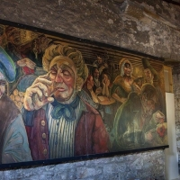 The Tam o'Shanter mural installed in the Arches in Edinburgh.