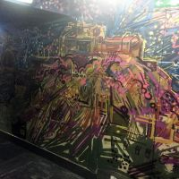 Spray work mural in the Three Sisters bar in Edinburgh.