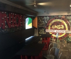 The Union Bar inside the Three Sisters Bar in Edinburgh.