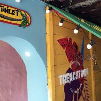 Custom murals and signage in Trenchtown Caribbean Social Club restaurant in Edinburgh, 2017.