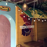 Custom murals and signage in Trenchtown Caribbean Social Club restaurant in Edinburgh, 2017.