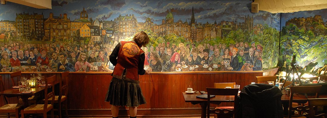 A Room In The West End - Scottish Nostalgia Mural